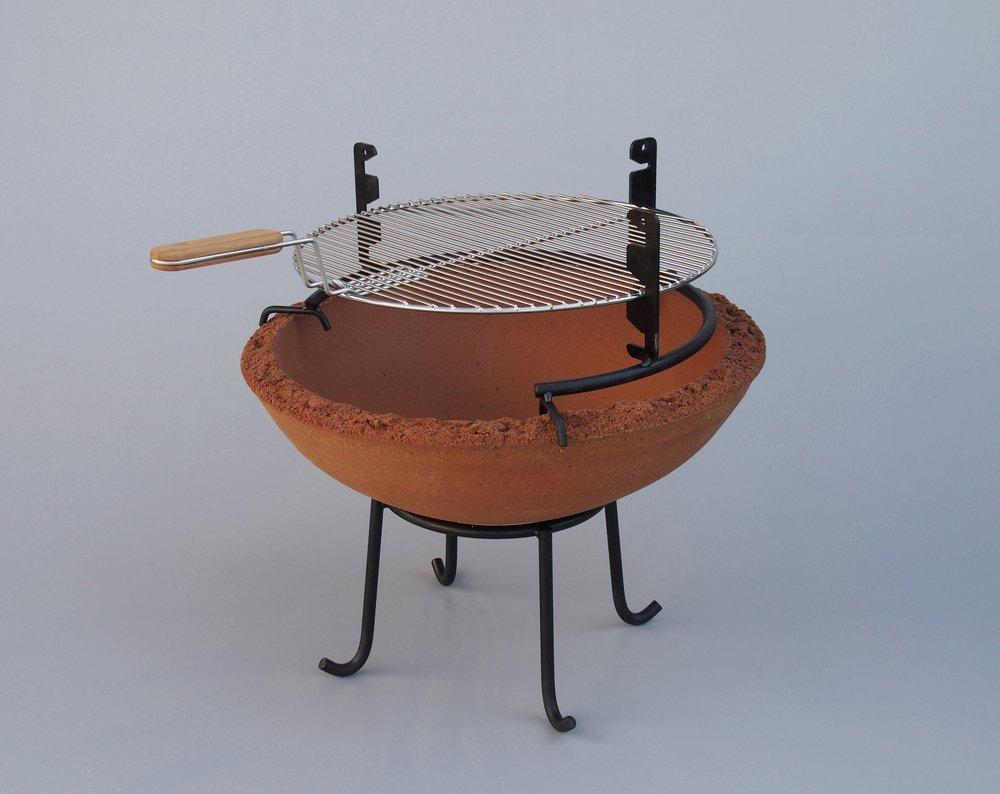 Feuerschale mit Grillaufsatz und Grillrost